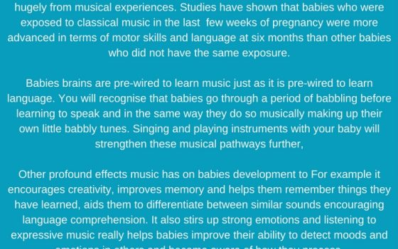 How music will benefit my baby!