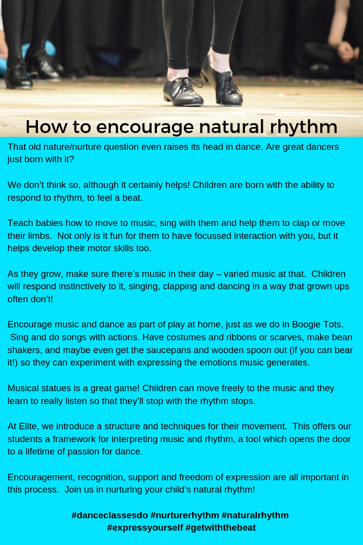 Is Dance Talent down to Nature or Nurture?!