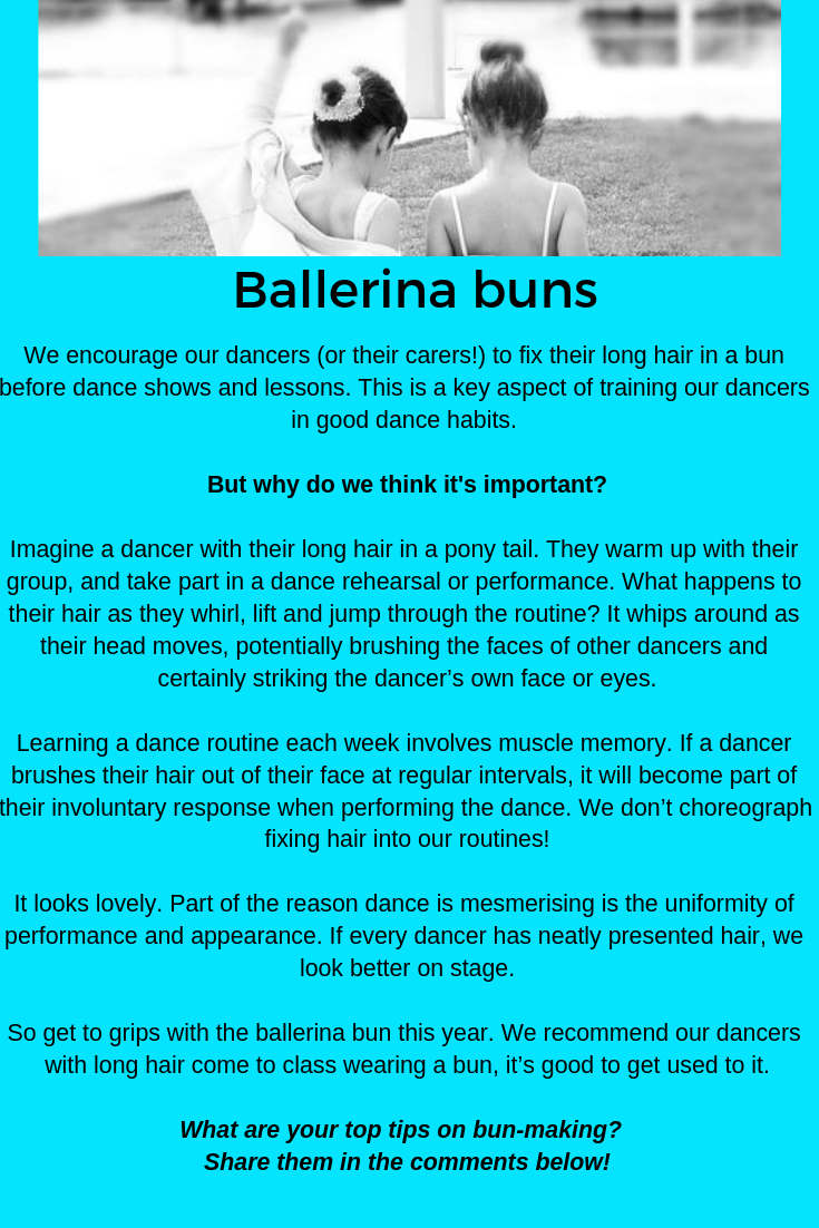 Buns for Ballerinas!