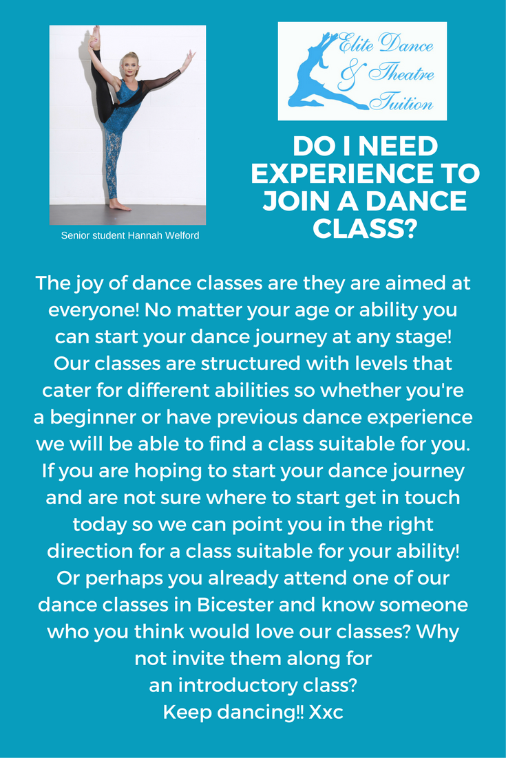 Do I need experience to join dance classes in Bicester?