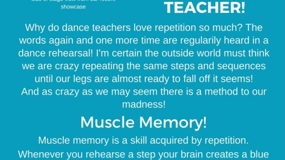 Why dance teachers LOVE repetition so much!